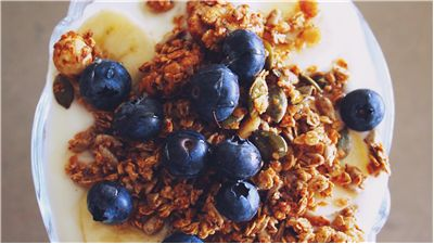 Picture Of Breakfast Cereals With Blueberries
