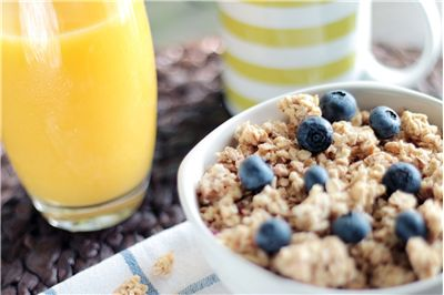 Picture Of Cereal Breakfast Blueberries