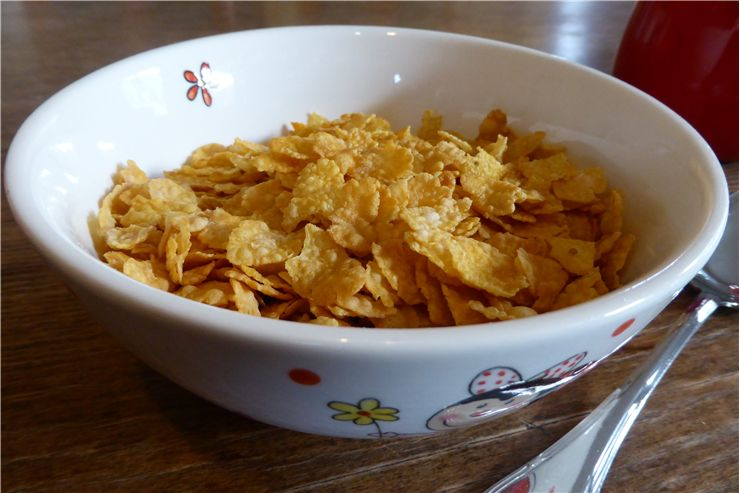 Picture Of Cornflakes Cereal Bowl
