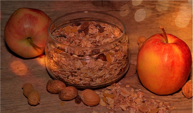 Picture Of Muesli Apple Cereal