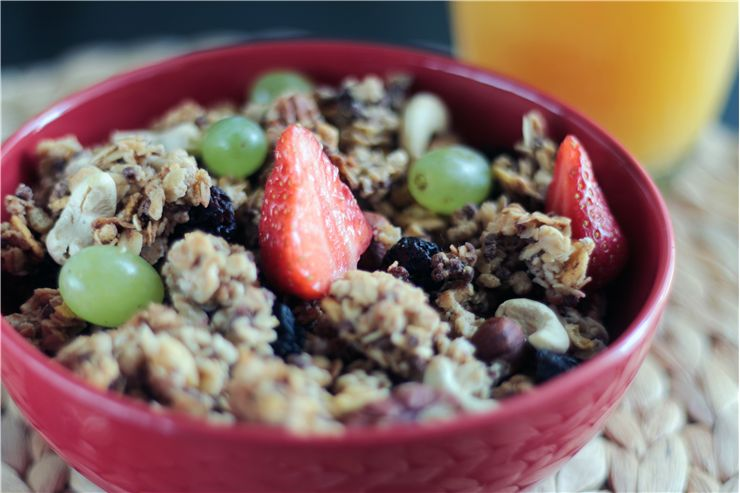 Picture Of Muesli Breakfast Food