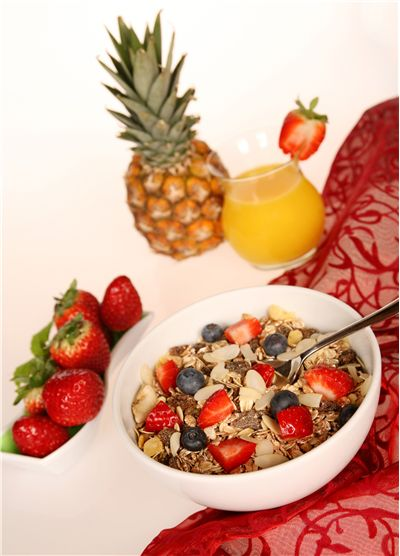Picture Of Muesli Cereals Oatmeal With Fruit