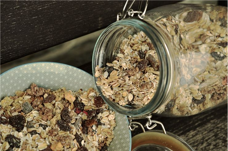 Picture Of Muesli Glass